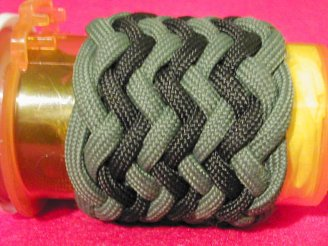 medicine-bottle-11-with-green-black-herringbone-interweave