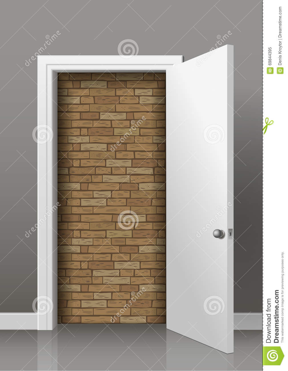 wall-behind-door-brick-open-white-room-lack-access-deadlock-69844395