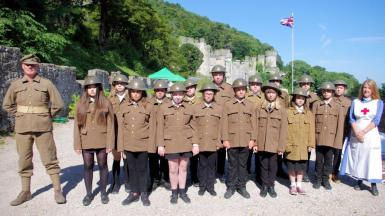 Troop to attention with jerry and lorraine.jpg