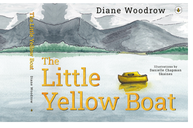 Front cover of The Little Yellow Boat book written by Diane Woodrow and illustrated by Danielle Chapman-Skaines