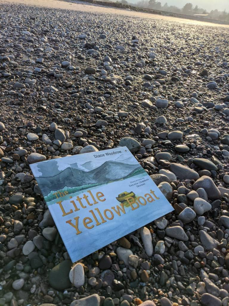 The Little Yellow Boat book written by Diane Woodrow and illustrated by Danielle Chapman Skaines on a trip to Pensarn beach