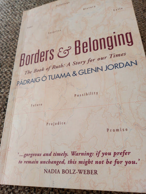 """Front cover of the book """"Borders & Belonging"""" by Pádraig Ó Tuama and Glenn Jordan. As read by Diane Woodrow"""