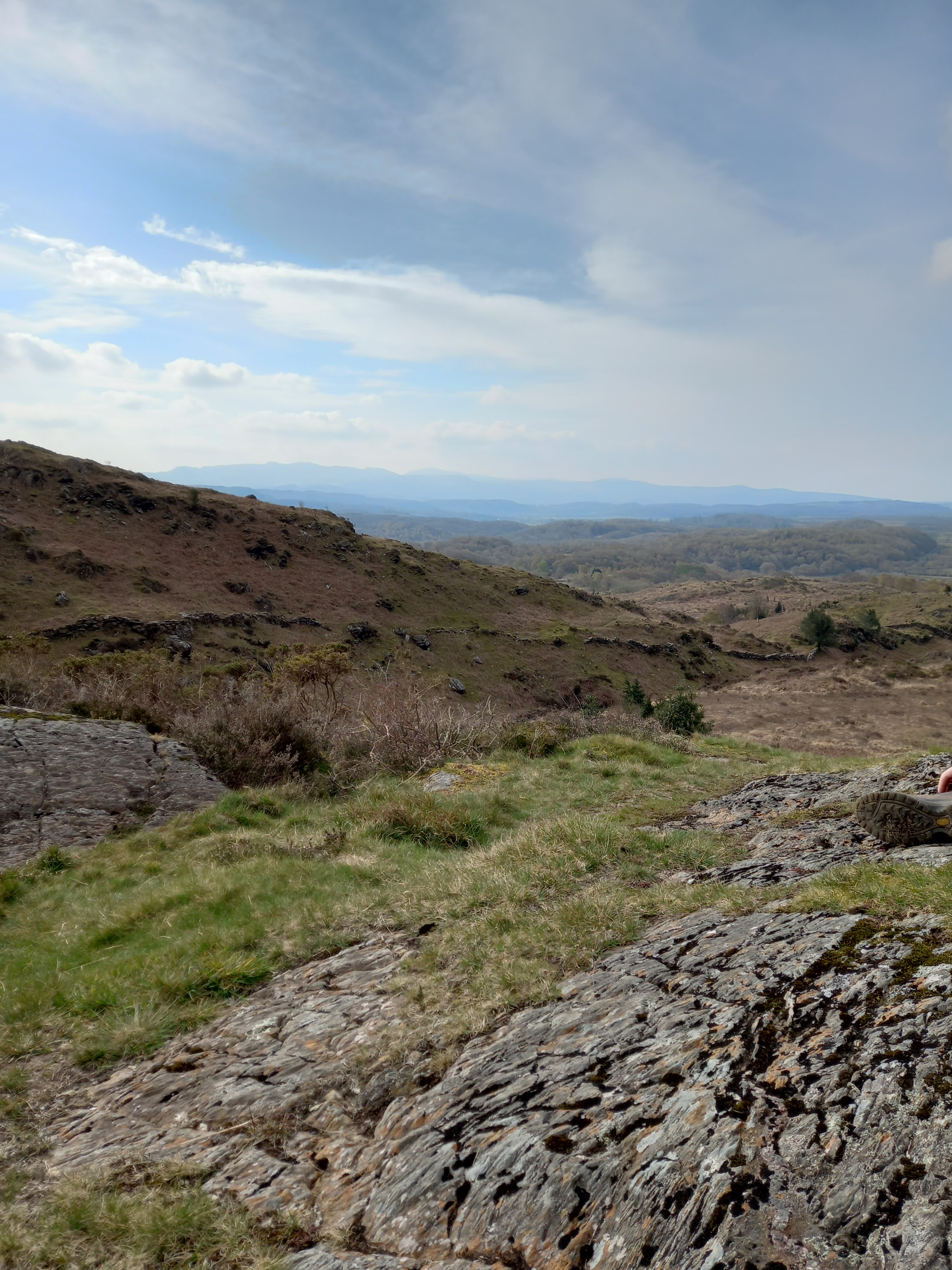 Photo by Diane Woodrow from near the top of Conwy mountain towards the interior of Snowdonia